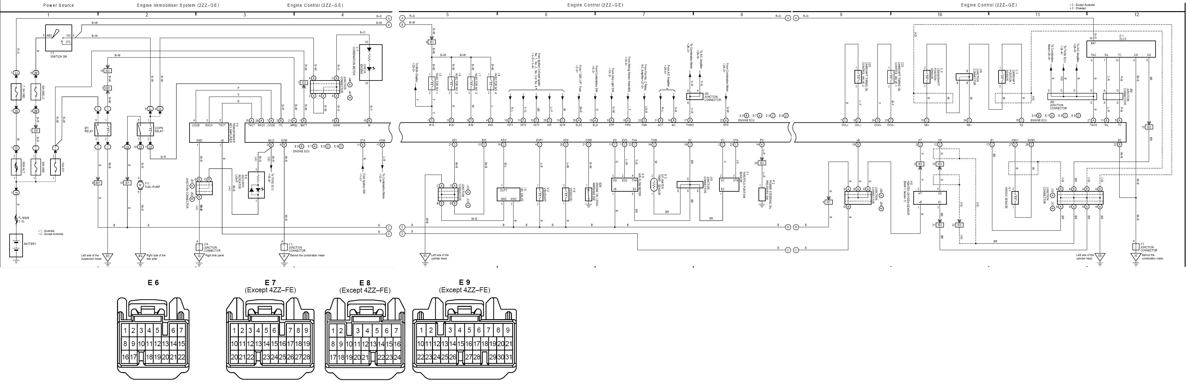 Ecu Wiring Diagram   Corolla Sportivo Club